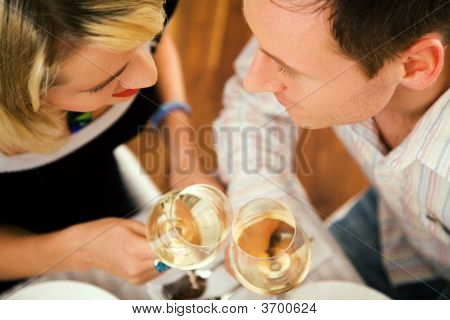 Couple Having Wine
