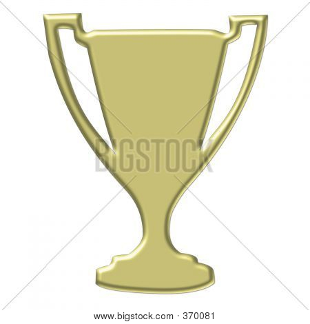 Gold Trophy - Clipart