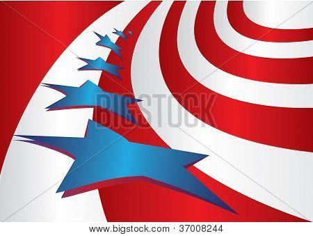 USA Flagge Stil