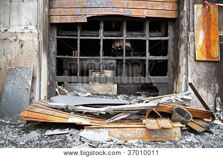 shop after fire