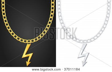 Necklace With Thunder Symbol