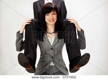 woman with man on her back