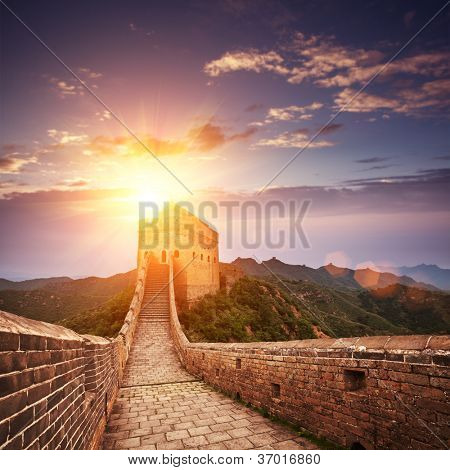 greatwall the landmark of china and  beijing