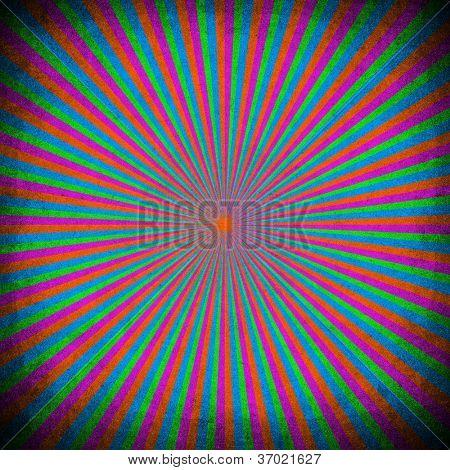 vivid rays pattern