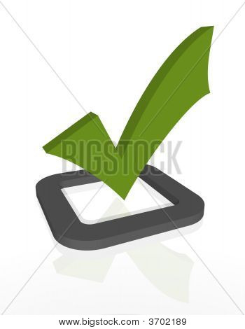 3D Check Mark - Get It Done!