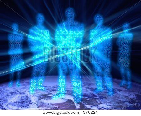 Dígito binario personas 4