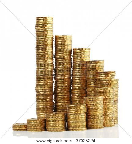 piles of euro coin cent
