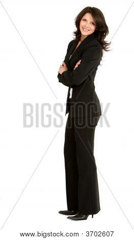 Pie de mujer de negocios