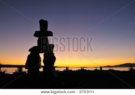 Symbol - Inukshuk At English Bay, Vancouver