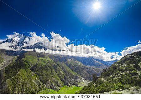 Beautiful mountain landscape. Himalayas