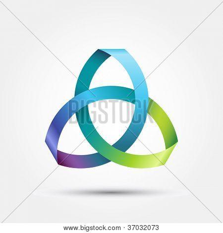 Triquetra threefold knot