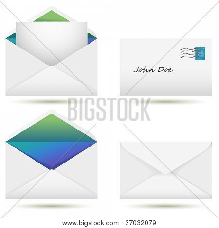 Vector set of envelopes