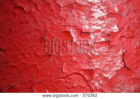 Cracking Red Paint