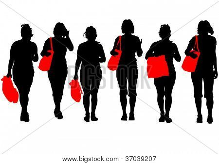 image of women with shopping bags