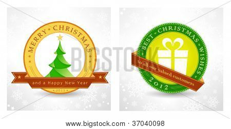Set of 2 Christmas, New Year background designs for the coming festive season 2012, 2013. Vector, eps10.