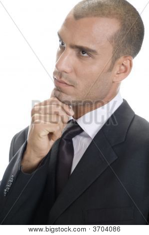Businessman Making Rational Decision