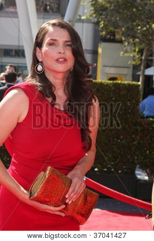 LOS ANGELES - SEP 15:  Julia Ormond arrives at the  Primetime Creative Emmys 2012 at Nokia Theater on September 15, 2012 in Los Angeles, CA