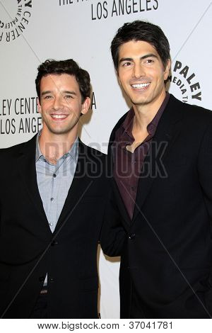 LOS ANGELES - SEP 6:  Michael Urie, Brandon Routh arrives at the