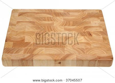 Butcher's block wooden chopping board, new and without knife marks.
