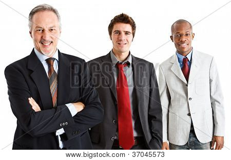 Group of friendly business people
