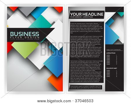 Colorful 3D Squares - Business Brochure Template Vector Design