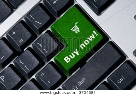 Keyboard With Green Key Buy Now