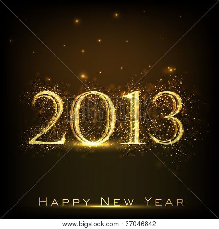 2013-Happy New Year-Grußkarte. EPS 10.