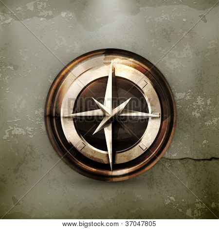 Compass, old-style vector