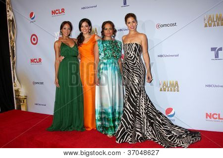 LOS ANGELES - SEP 16:  Dania Ramirez, Edy Ganem, Judy Reyes and Ana Ortiz in the press room at the 2012 ALMA Awards at Pasadena Civic Auditorium on September 16, 2012 in Pasadena, CA