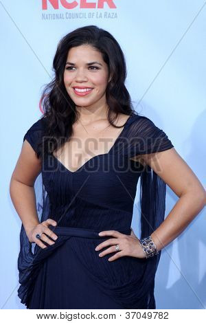 LOS ANGELES - SEP 16:  America Ferrera arrives at the 2012 ALMA Awards at Pasadena Civic Auditorium on September 16, 2012 in Pasadena, CA