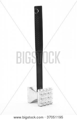 Metal Meat Mallet Grinder Tenderizer Hammer kitchen utensil on white background