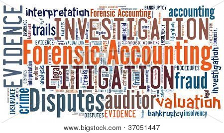 Forensic Accounting in word collage