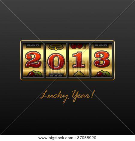2013 - Año suerte! Vector.