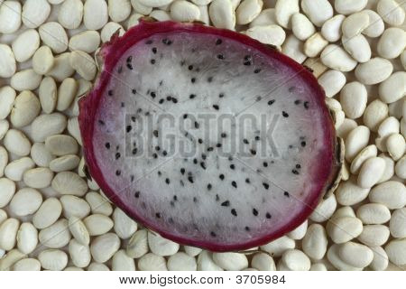 Dragon Fruit On Lima Beans