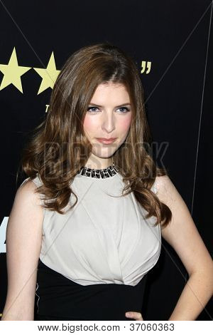 "LOS ANGELES - SEP 17:  Anna Kendrick arrives at the ""End Of Watch"" Premiere at Regal Cinemas L.A. Live on September 17, 2012 in Los Angeles, CA"