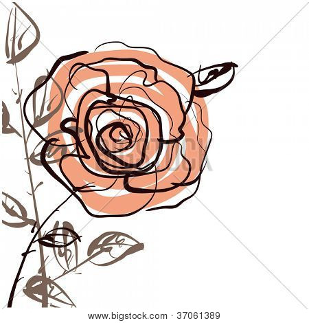 art sketching roses vector background. Vector version is also in my gallery.