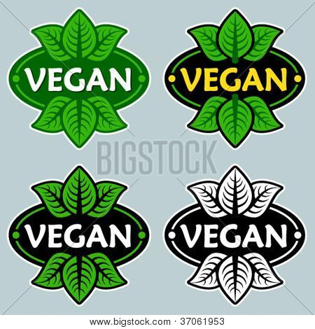 Vegan productos certificados de sello