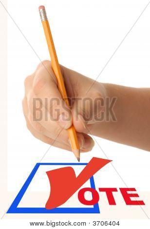 Dsc_0067 Hand With Vote