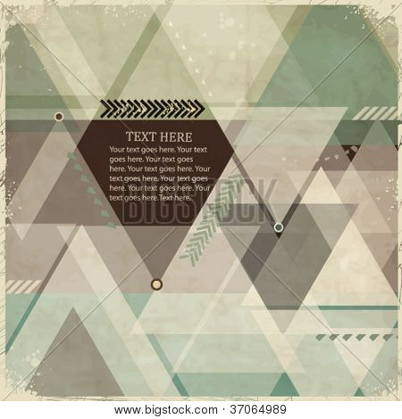 Abstract vintage geometric background with triangles