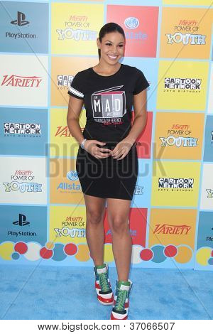 LOS ANGELES - 15.September: Jordin Sparks kommt der Sorte Power Of Youth Event bei Paramount Stud