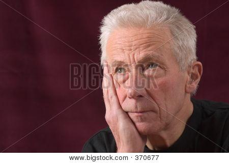 Senior Man Looking Serious