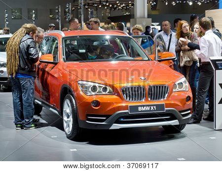 MOSCOW-SEPTEMBER 8: BMW X 1 at the Moscow International Motor Show on September 8, 2012 in Moscow, Russia