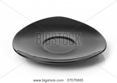 Triangle saucer isolated on white background