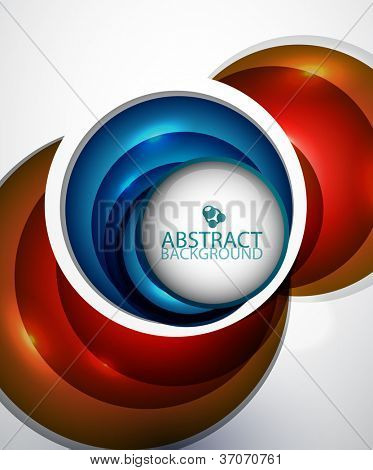 Glossy colorful abstract circles design