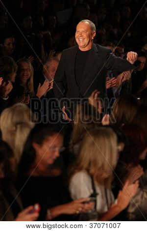 NEW YORK - SEPTEMBER 12: A designer Michael  Kors walks the runway at the MICHAEL KORS Spring/Summer 2013 collection Mercedes-Benz Fashion Week in New York on September 12,2012