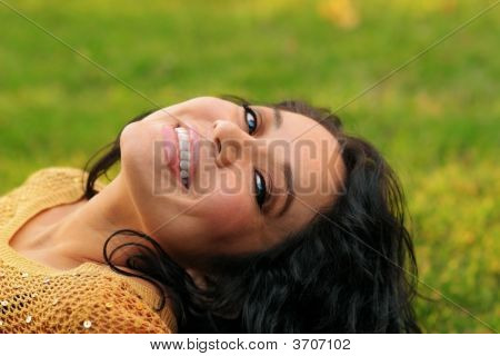 Woman And Grass
