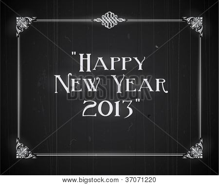 Film noch screen - Happy New Year 2013 - Editable Vector EPS10