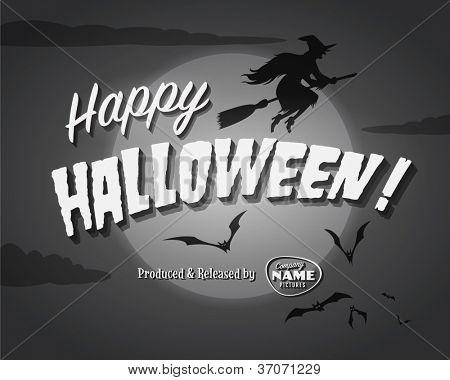 Final de la película de pantalla - Happy Halloween - Vector EPS10