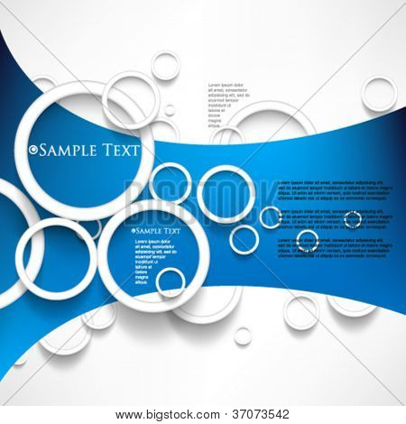 eps10 vector overlapping circles concept background