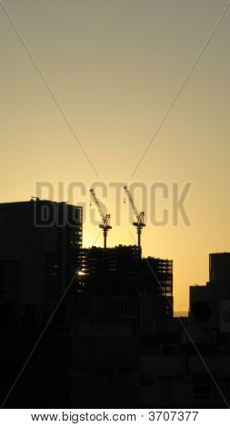 Skyscrapper Construction Cranes